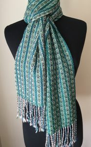 Silk Blend Luxurious Reversible Scarf in bottle green