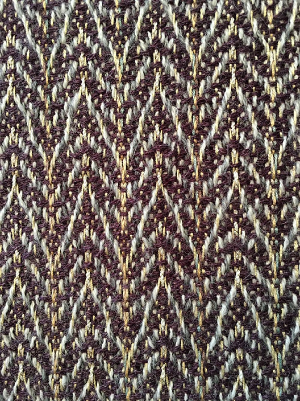 Eggplant handwoven luxurious scarf hand-tied fringe