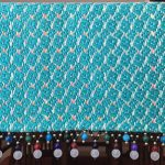 Detail Silk ribbon table runner with bead trim