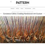 PATTERN Magazine interview constance, threading heddles, dressing loom