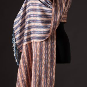 Luxurious silk blend wrap reversible – Ginger v2