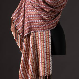 Luxurious silk blend wrap reversible – Wine