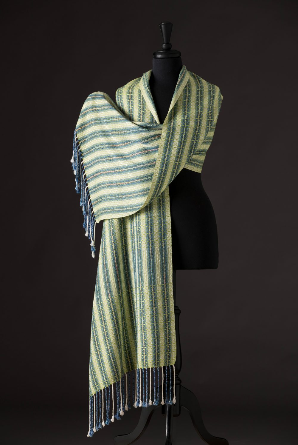 silk blend wrap reversible - lime