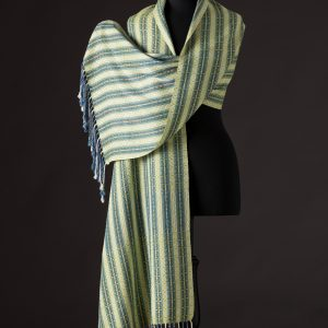 Luxurious silk blend wrap reversible – Lime