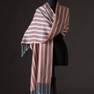 Luxurious silk blend wrap reversible – Ginger