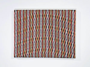 Handwoven textile wall artwork – Tribal Diamonds