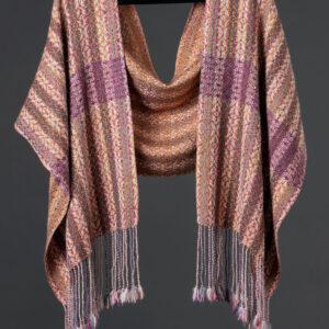 Handwoven alpaca reversible wrap – Acorn