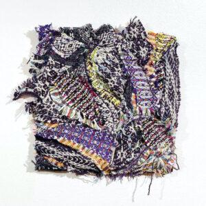 Handwoven textile collage artwork – Kaleidoscope I