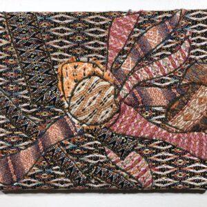 Handwoven textile collage artwork – Kaleidoscope III