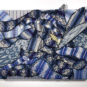 Handwoven textile collage wall art – Kaleidoscope II