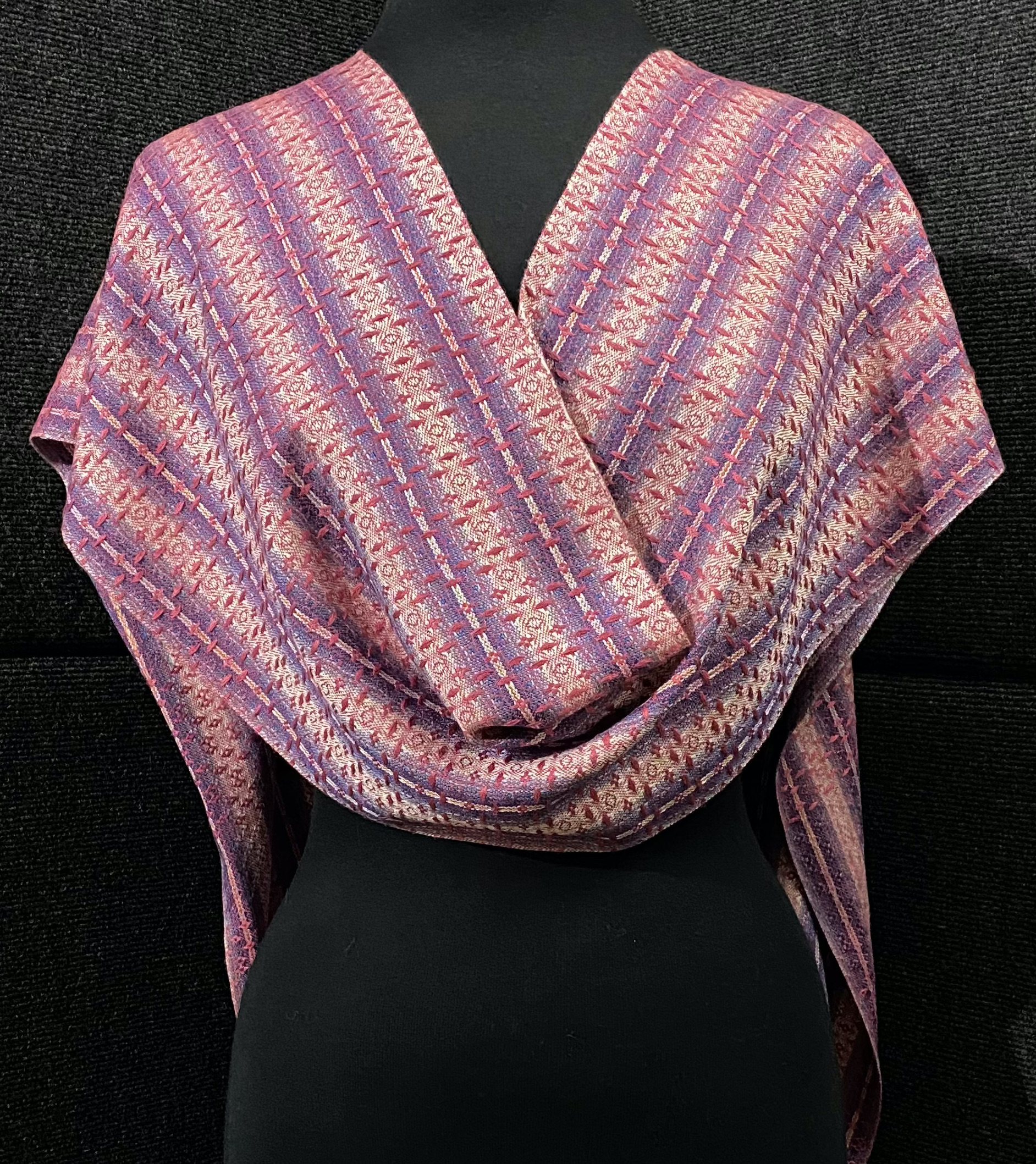 SBS-21 Cerise silk scarf back