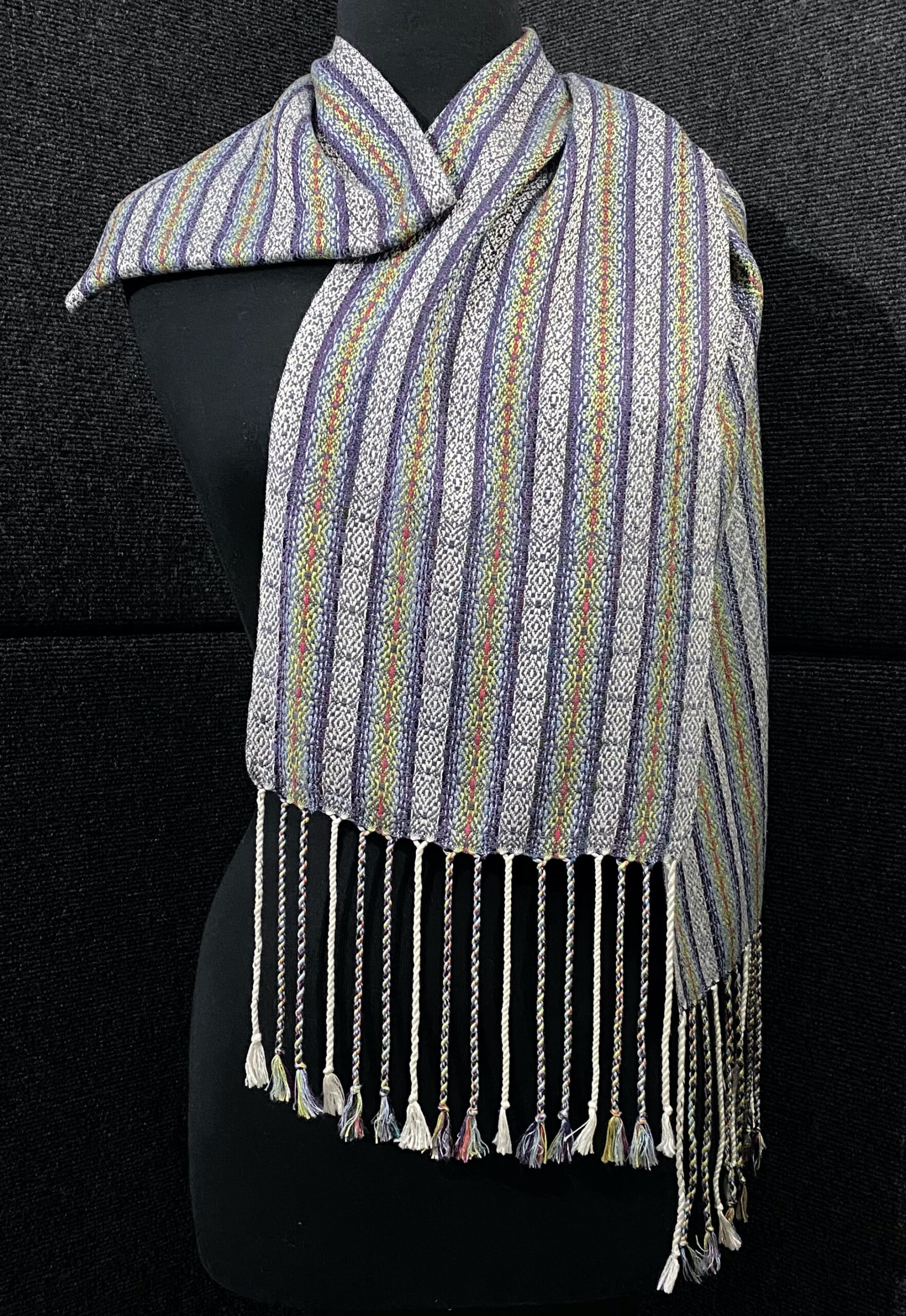 SBS-52 Scottish Charcoal silk scarf