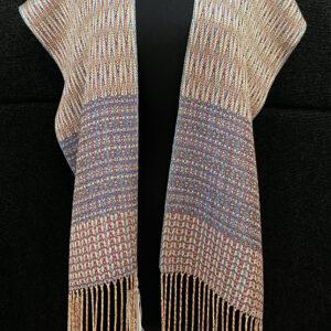 SBS-57 Peacock Blue silk scarf -full